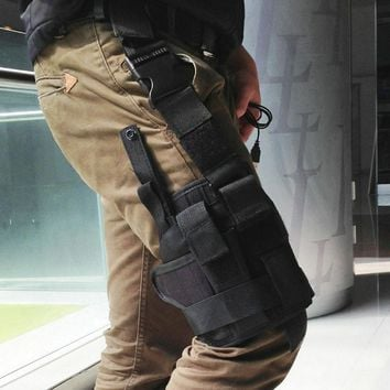 2016 Hot Sell Adjustabl Tactical Drop Leg Thigh Holster w Mag Pouch Right Hand lb SL free shipping