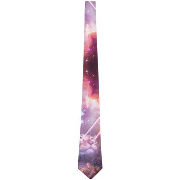Galaxy Cat Laser Beams All Over Neck Tie