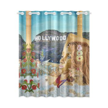 "EHE1_holly Window Curtain 52"" x 63""(One Piece)"