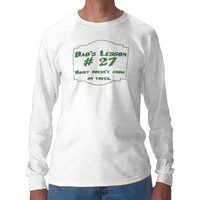 Dad's lesson #27 men's long sleeve shirt from Zazzle.com
