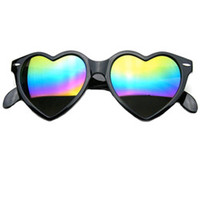 Mirror Heart Sunglasses