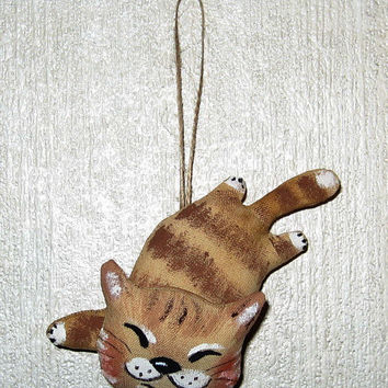 Stuffed animal-Animal toy- Soft Animal-Fabric toy-Animal gift-Stuffed-Gift toy-Stuffed toy-Cat-Toy animal-Animal art-Rag toy-Stuffed toy Cat
