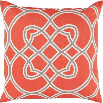Jorden Throw Pillow Orange, Brown