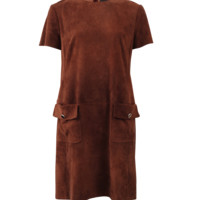 Stretch Suede Patch Pocket Dress | Marissa Collections