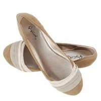 Qupid Taupe Velvet Color Block Ballerina Flats and Womens Fashion Clothing  Shoes - Make Me Chic