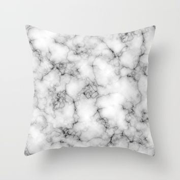 Marble Pattern Throw Pillow by Smyrna