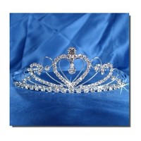 Bridal Wedding Tiara Crown With Crystal Heart 42205