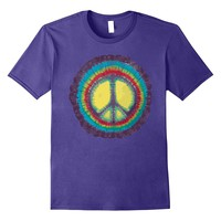 Tie Dye Peace Symbol Tee Shirt - Cool Rainbow Hippy Tshirt