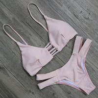 Women Pink Bikinis Beach Swimsuit Gift
