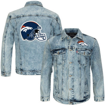 Denver Broncos Vintage Denim Jacket - Blue