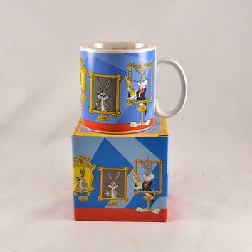 Bugs Bunny Coffee Mug - Through the Years - Graphics - 1989 Complete w/ Original Box - Commemorative