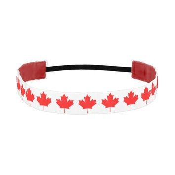 Canadian Flag Red Maple Leaf Headband