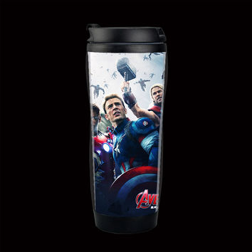 free shiping sell   hot Fast & Furious 7 travel mug  adversing mug easy for DIY , double wall plastic mug  ,14oz coffee mug