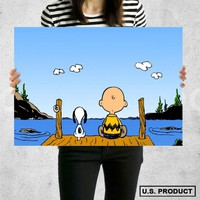 Poster Print Snoopy and Charlie Brown Wall Decor Canvas Print - halawatani.com