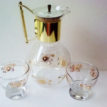 Shop vintage glass and pitcher sets on wanelo - Heat proof pitcher ...