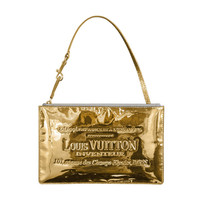 Louis Vuitton Limited Edition Gold Miroir Pochette Clutch Purse