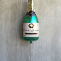 """Champagne Bottle Balloon, 36"""", Champagne Balloons, Foil, Bubbly Bar, Birthday, Bachelorette Party, Decor, Wedding, Bridal Shower, Party"""