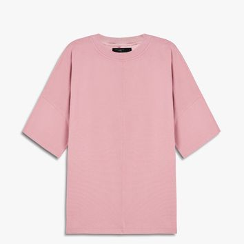oversized box heavy tee / blush