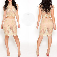 FASHION LACE TWO-PIECE DRESS