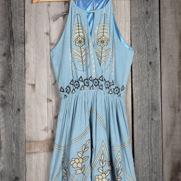 Cupshe Breezy Does It Embroidered Slip Dress