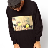 Reclaimed Vintage Acid Smile Cherub Sweat