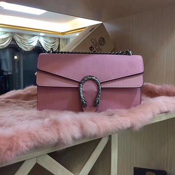 GUCCI  Suede Leather Shoulder Bag