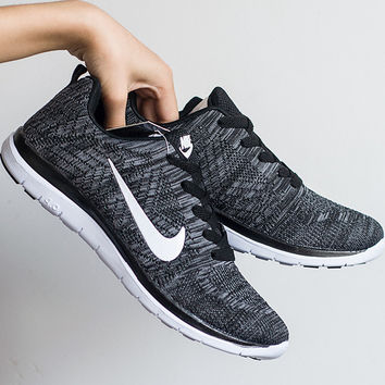 """NIKE"" Trending Fashion Casual Sports Shoes Black grey"
