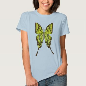 Brown and Yellow Butterfly Art Graphic T-Shirt