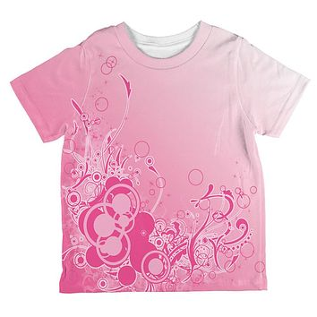Pink Ombre Day Dream All Over Toddler T Shirt