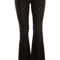 EYELET LACE BELL PANTS