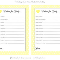 Yellow Polka Dot Wishes For Baby: INSTANT DOWNLOAD
