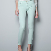 BASIC SATIN TROUSERS - Trousers - Woman - ZARA United States