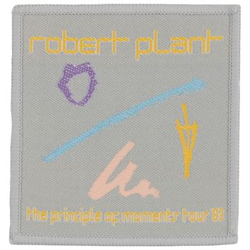 Robert Plant Men's 1983 Tour Woven Patch Grey