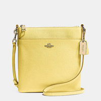 NORTH/SOUTHswingpackin embossed textured leather