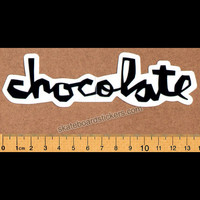 Chocolate Chunk Logo Skateboard Sticker - Black