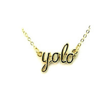 Gold Y.O.L.O. Necklace