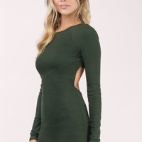 Illusion Backless Bodycon Dress