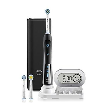 Electric Toothbrush, Oral-B Pro 7000 SmartSeries Black Electronic Power Rechargeable