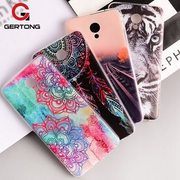 GerTong Cartoon Painted Phone Case for Meizu M5 Note M3 S Mini M2 Note M5C M5S MX6 MX5 M3E Pro 6 7 plus U20 U10 Silicone Shell