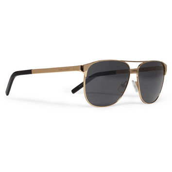 Saint Laurent Classic 13 Metal Aviator Sunglasses | MR PORTER