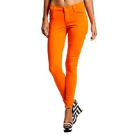 Mid Rise Skinny Jeans, Orange