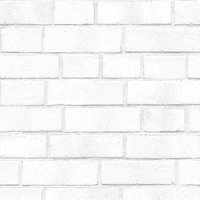 Tempaper Removable Wallpaper: Brick White