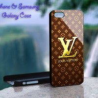 Louis Vuitton Gold - iPhone 4 4S iPhone 5 5S 5C and Samsung Galaxy S3 S4 Case