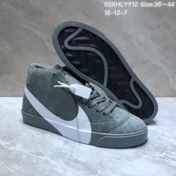 KUYOU N870 Nike Wmns Blazer Mid SD Logo Casual Skate Shoes Black Green