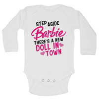 Step Aside Barbie There's A New Doll In Town -  Funny Kids Rompers