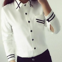 Women's Blouses Shirts off shoulderice White elegant Sleeve Collar