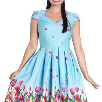 Angelique [Blue] | 50'S DRESS
