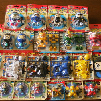 Takara Super Battle B-Daman Bomberman Bakugaiden Lot of 24 Model Kit Figure Set