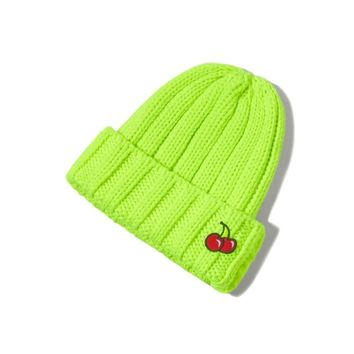 Double cherry beanie neon