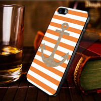 Anchor gold bling glitter stripes -  iPhone 4 / iPhone 4S / iPhone 5 / samsung s2 / samsung s3 / samsung s4 Case Cover